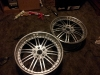 Corey tran came to us with come damaged cracked silver wheels so he asked us to give it a new look