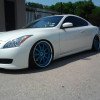 Customers ride after we repaired and did the makeover  with a cutom color on his wheels