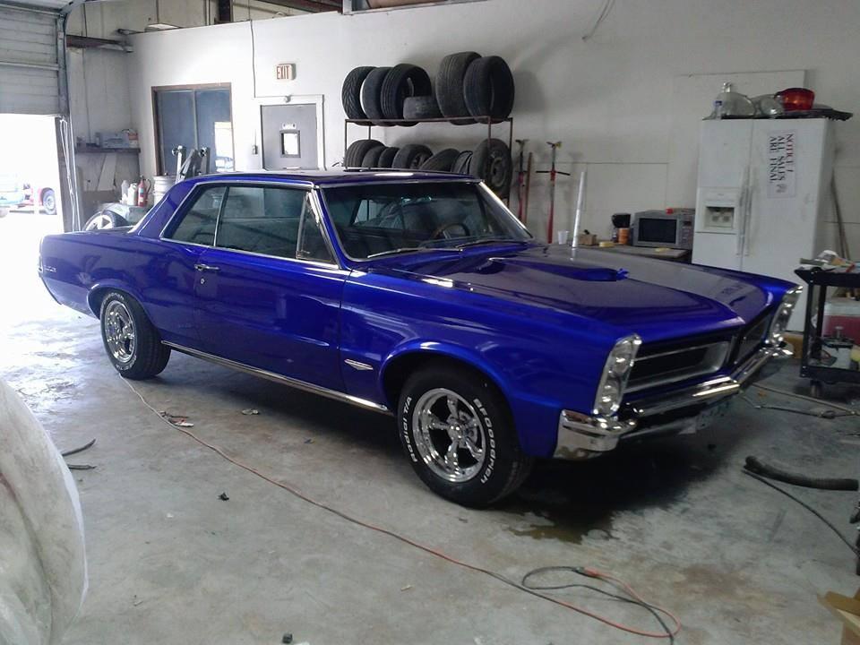 classic 65 gto restomod  full restore candy cobalt blue rimspec allstar team
