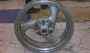 We Can Powder Coat , Polish and Repair Your Motorcycle Wheel and Give it A Makeover
