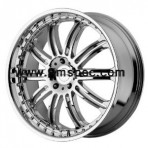 KMC KM127 Dime Chrome