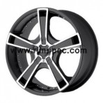 KMC KM663 Swindle Matte Black Machined