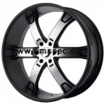 KMC KM671 Matte Black Machined