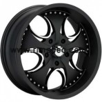 KMC KM755 Matte Black Machined