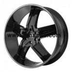 Lorenzo WL30 Gloss Black with Machined Stripe