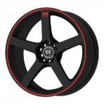 Motegi MR116 Matte Black w/ Red Stripe