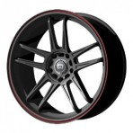 Motegi MR117 Matte Black w/ Red Stripe