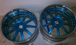 Custom color makeover on wheels